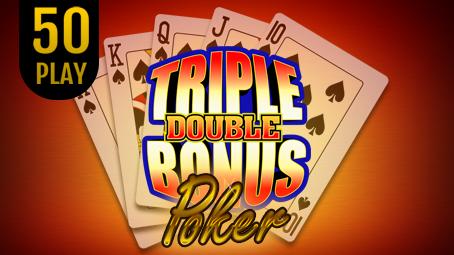 Triple Double Bonus Poker 50 Play